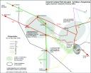 Carte du réseau de transport existant pour accéder au Campus de Lyon 2 Bron, avec les préconisations d'Atelier CAPACITES