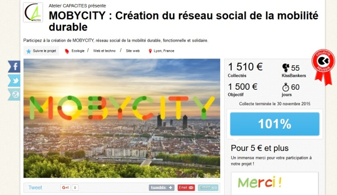 MOBYCITY, UN PROJET FINANCÉ PAR LES CITOYENS