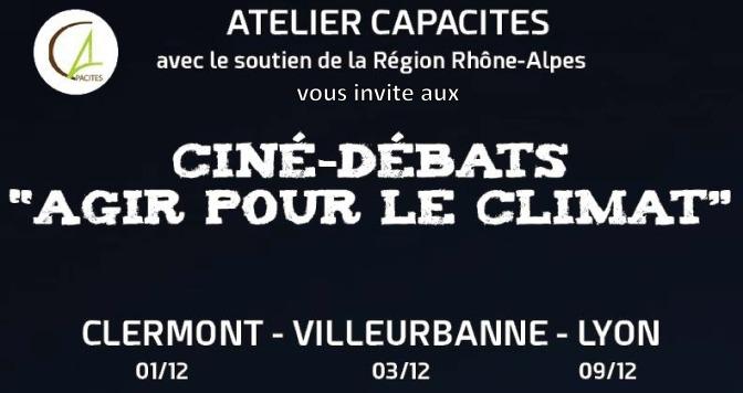 LANCEMENT DU CYCLE DE CINÉ-DEBATS «AGIR POUR LE CLIMAT»