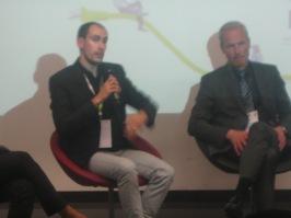 David-Marie Vailhé, Directeur d'Atelier CAPACITES (gauche) et Frédéric Stork, Directeur Energie de la Compagnie Nationale du Rhône (droite)